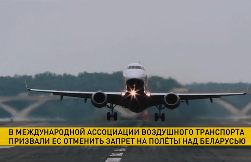 Международная ассоциация воздушного транспорта призвала ЕС отменить запрет на полеты над Беларусью