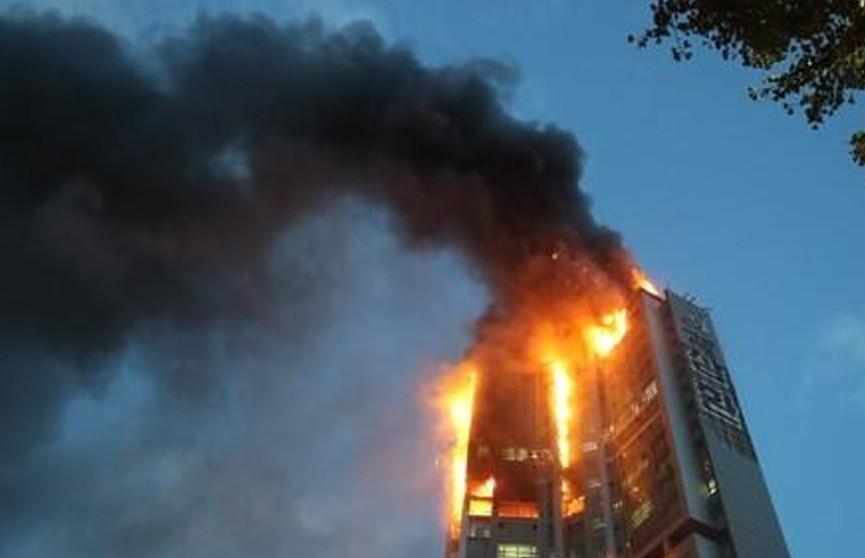 В Южной Корее 88 человек пострадали при пожаре в небоскребе