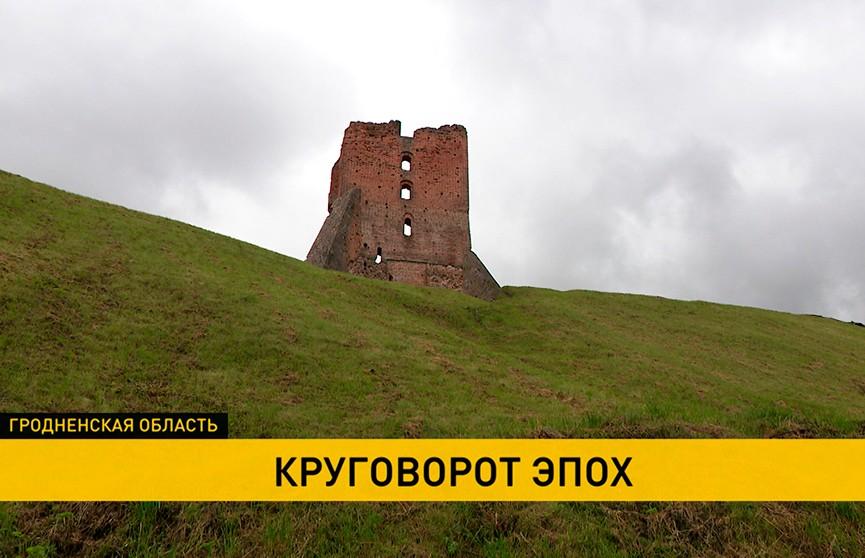 Консервация Посадской и Дозорной башен и восстановление Щитовой: работы по реставрации Новогрудского замка идут полным ходом