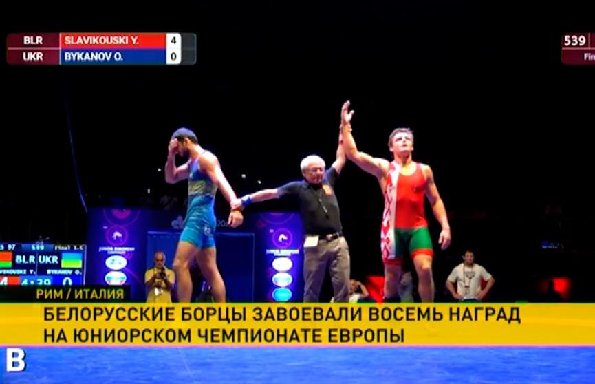 Белорусские борцы привезли россыпь наград с юниорского чемпионата Европы