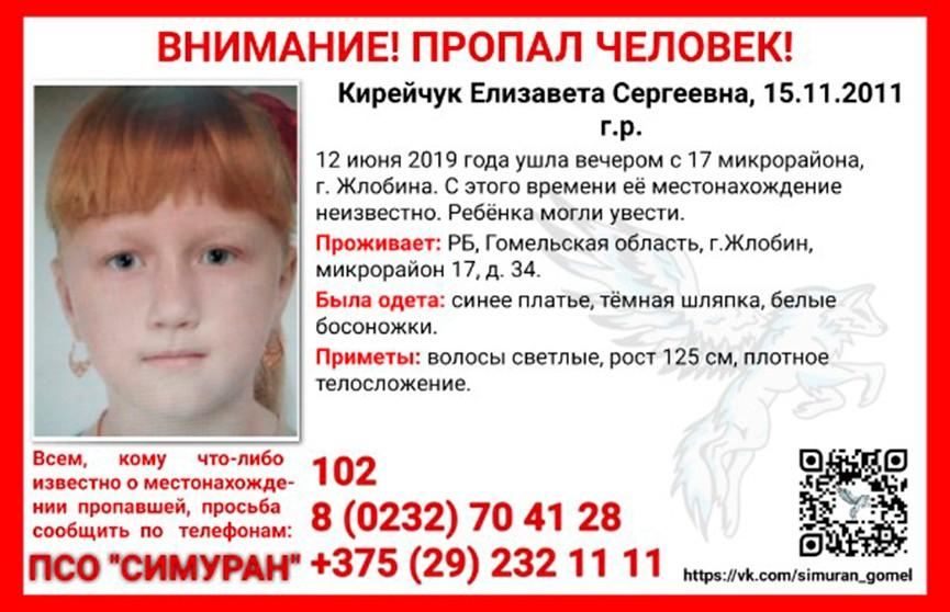 7-летняя девочка пропала в Жлобине