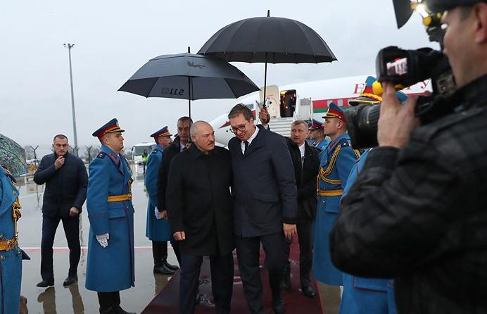 Александр Лукашенко прибыл с официальным визитом в Сербию