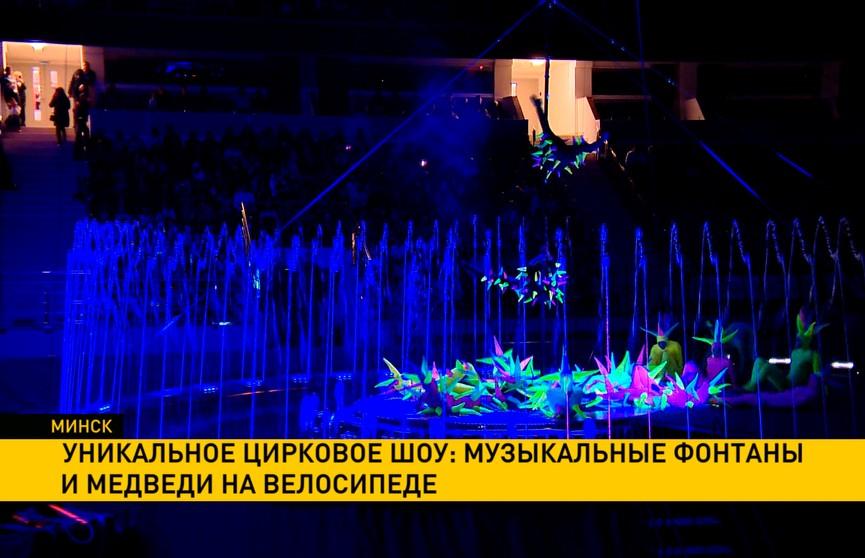 Уникальное цирковое шоу: музыкальные фонтаны и медведи на велосипеде