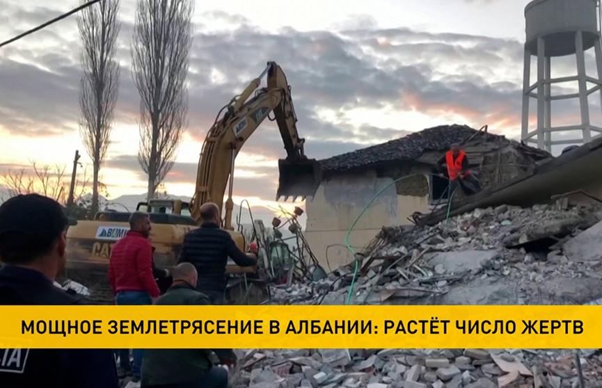 Число погибших в результате землетрясения в Албании увеличилось до восьми человек