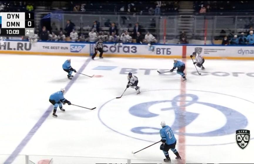 Хоккеисты минского «Динамо» проиграли одноименному клубу из Москвы в КХЛ
