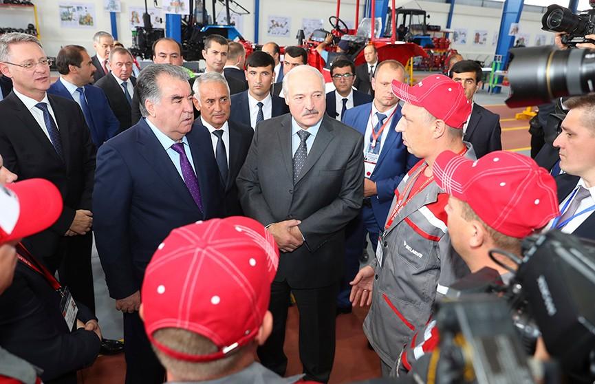 Александр Лукашенко и Эмомали Рахмон договорились о развитии промкооперации в Таджикистане