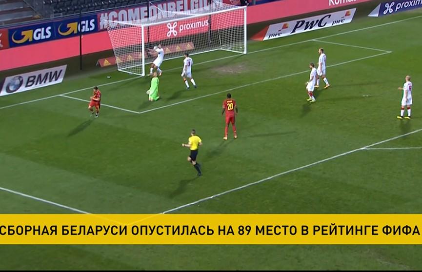 Сборная Беларуси по футболу опустилась ещё на одну позицию в новом рейтинге FIFA