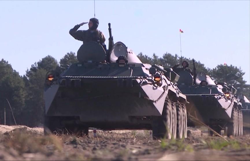 На полигоне «Брестский» проходит учение белорусских и российских десантников