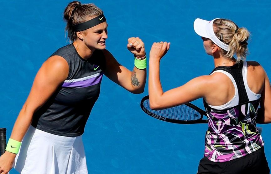 Соболенко и Мертенс обыграли Азаренко и Барти в финале парного разряда US Open