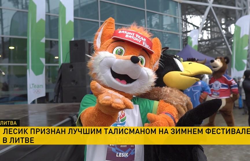 Лисёнок Лесик стал чемпионом на зимнем фестивале в Друскининкае