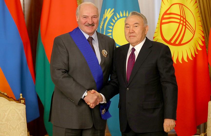 Состоялся телефонный разговор Лукашенко с Назарбаевым