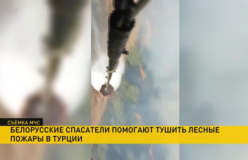 Белорусские спасатели помогают тушить лесные пожары в Турции