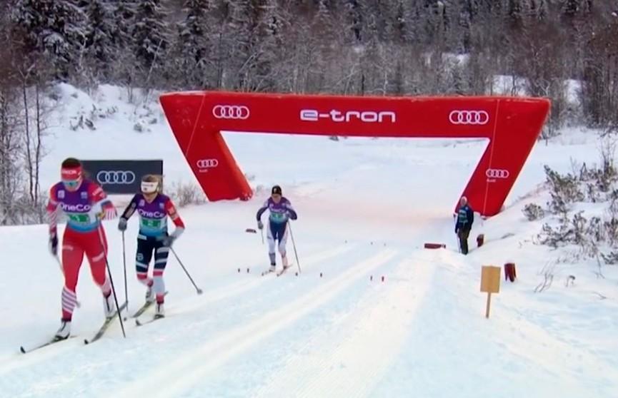 Евгений Белов – лучший на 15 километров свободным стилем на лыжном турнире в Давосе