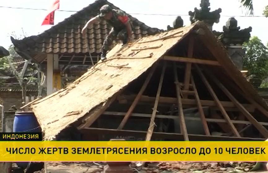 Землетрясения на острове Ломбок: десять человек погибли