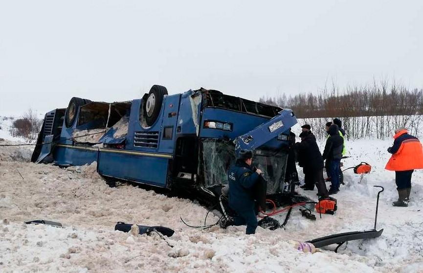 Автобус с детьми опрокинулся в Калужской области: семь человек погибли
