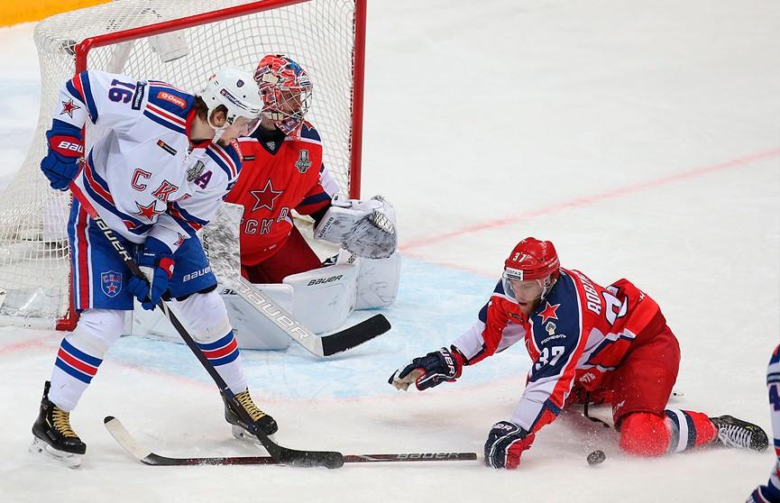 Хоккеисты ЦСКА обыграли СКА в первом матче финала Западной конференции КХЛ