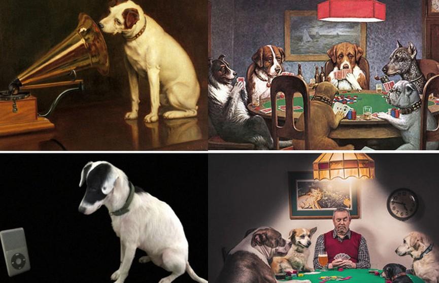 Собаки, юмор и креатив. Люди в домашних условиях воссоздали мировые шедевры