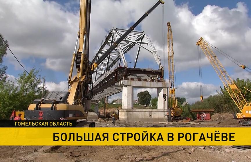 Уникальное архитектурное решение: мост через Днепр в Рогачёве будет сдан до конца 2022 года