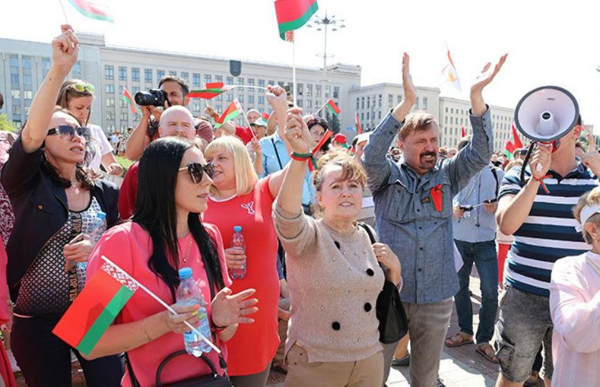 На площади Независимости в Минске собирается митинг в поддержку Лукашенко
