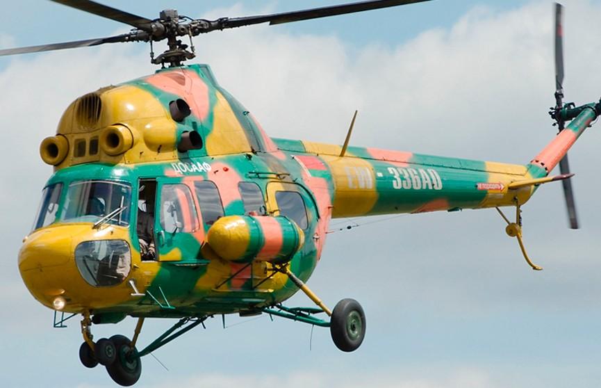 Вертолет ДОСААФ попал в аварию под Витебском