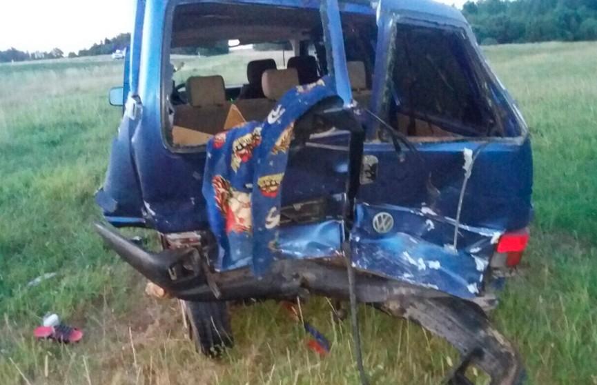 Водитель микроавтобуса погиб в ночном ДТП под Лиозно