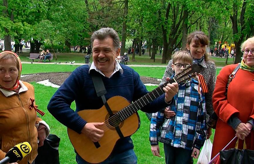 Музыкальная эстафета: белорусы поют легендарные песни военных лет (ВИДЕО)