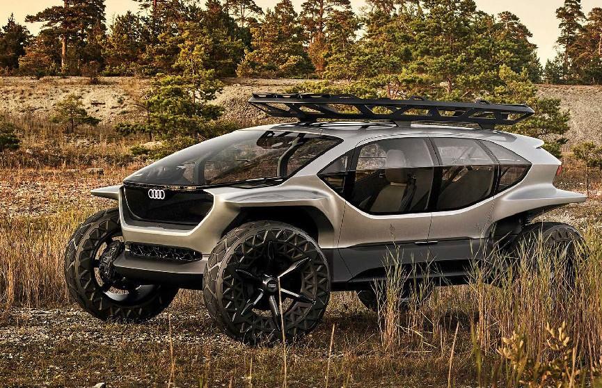 Audi показала внедорожник будущего с дронами вместо фар