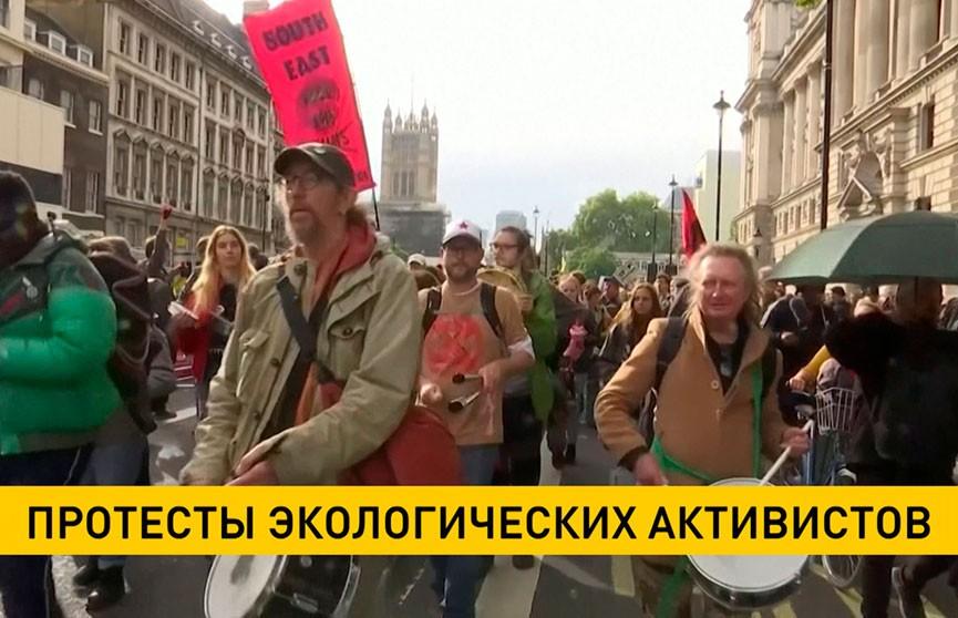 Экоактивисты устроили акции протеста в городах Западной Европы
