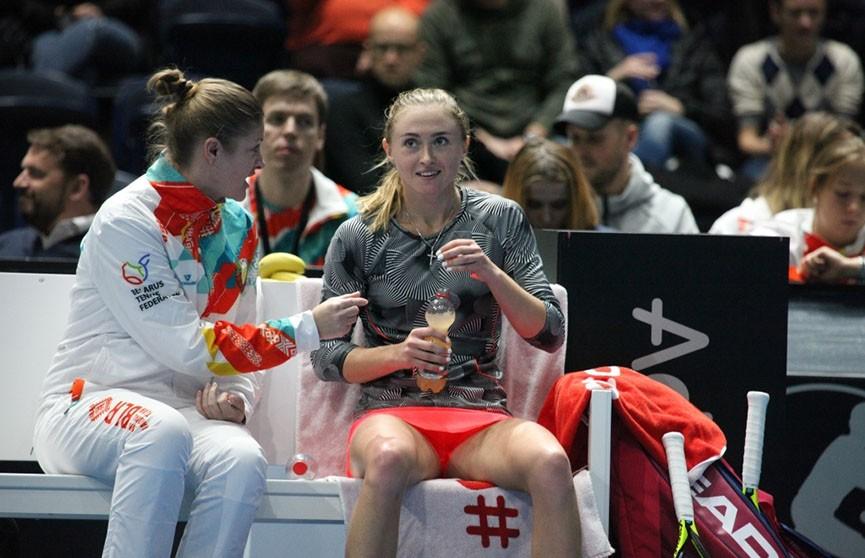 Белорусские теннисистки выиграли два стартовых поединка в матче Кубка Федерации с немками