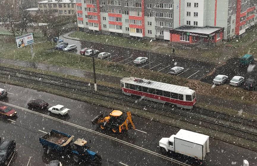 Дыхание зимы. В Витебске выпал первый снег (ФОТО)