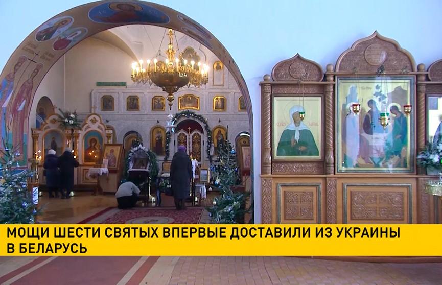 Ковчег с мощами шести святых прибыл из Украины в Витебск