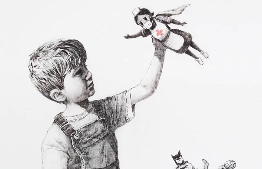 Бэнкси создал картину с медсестрой-супергероиней