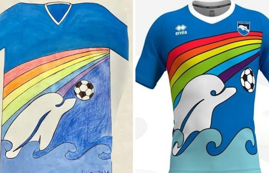 Футбольный клуб создал форму по рисунку шестилетнего фаната