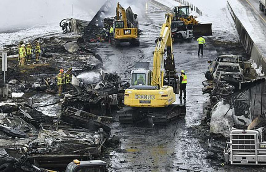 Массовое ДТП в Миннесоте: столкнулись 29 машин