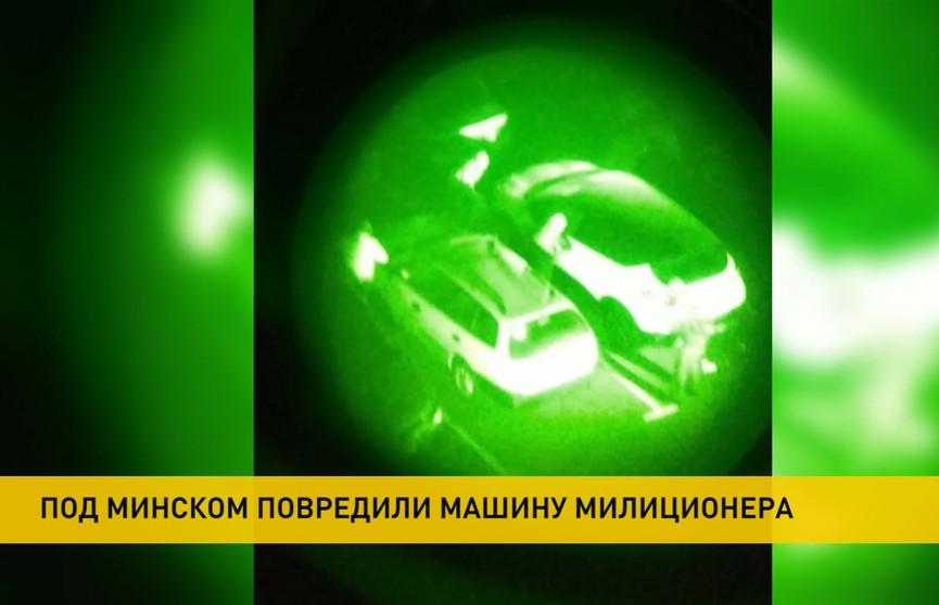 Хулиганы повредили машину, принадлежавшую семье милиционера: их задержали