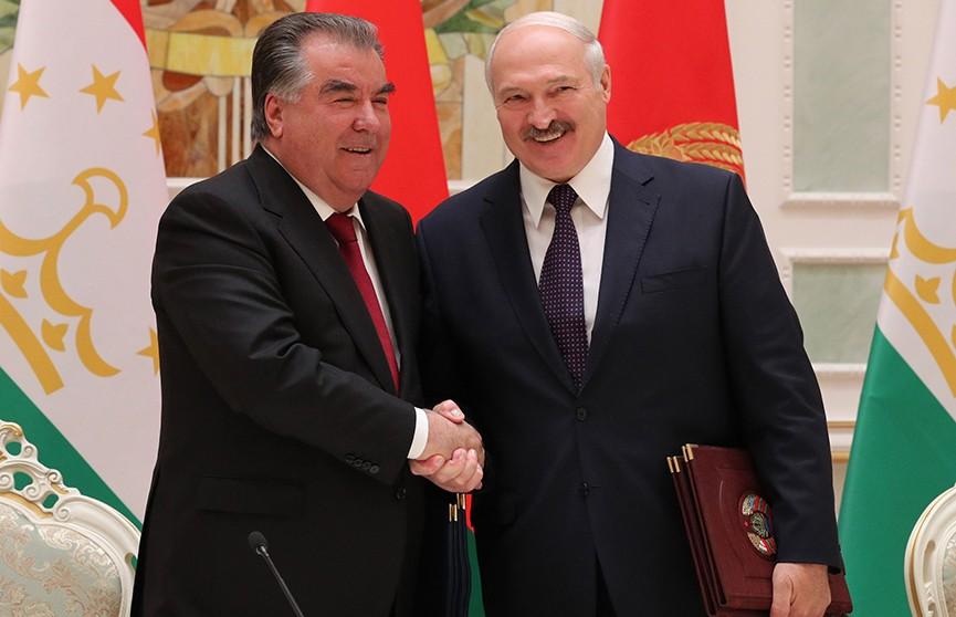 Лукашенко: Прямая кооперация должна стать движущей силой сотрудничества Беларуси и Таджикистана