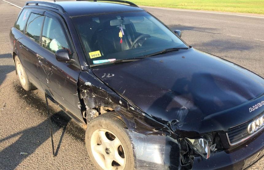 Легковушка врезалась в авто ГАИ в Лепельском районе