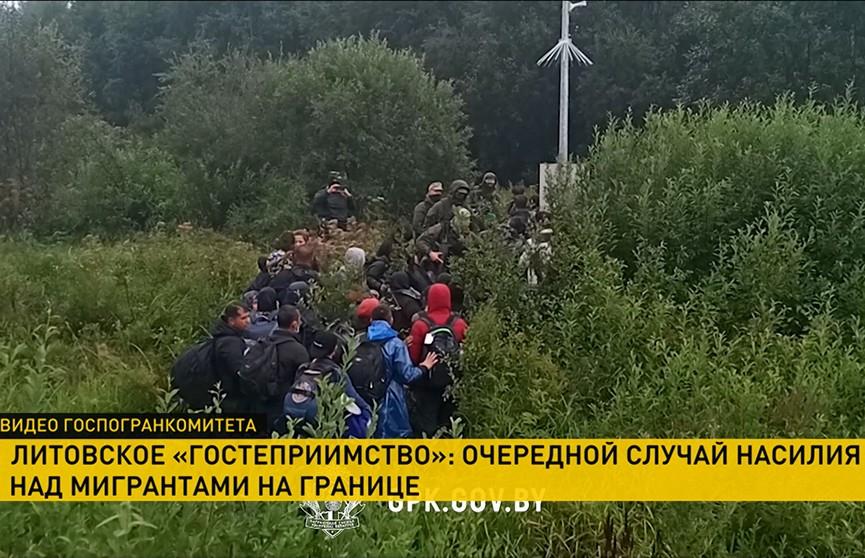 Литовские силовики пытались вытолкать беженцев с применением силы