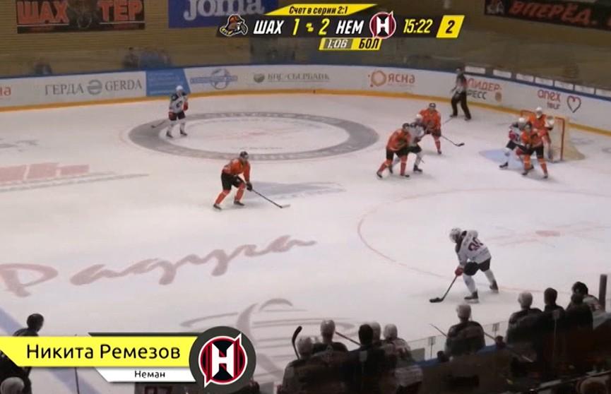 Никита Ремезов признан лучшим хоккеистом гродненского «Немана»