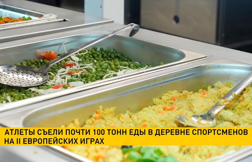 100 тонн продуктов реализовано в столовой Деревни спортсменов на II Европейских играх