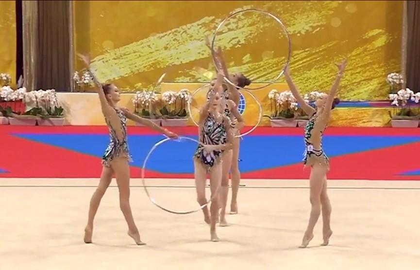 Белорусские гимнастки не завоевали медалей в групповом многоборье на ЧМ в Софии