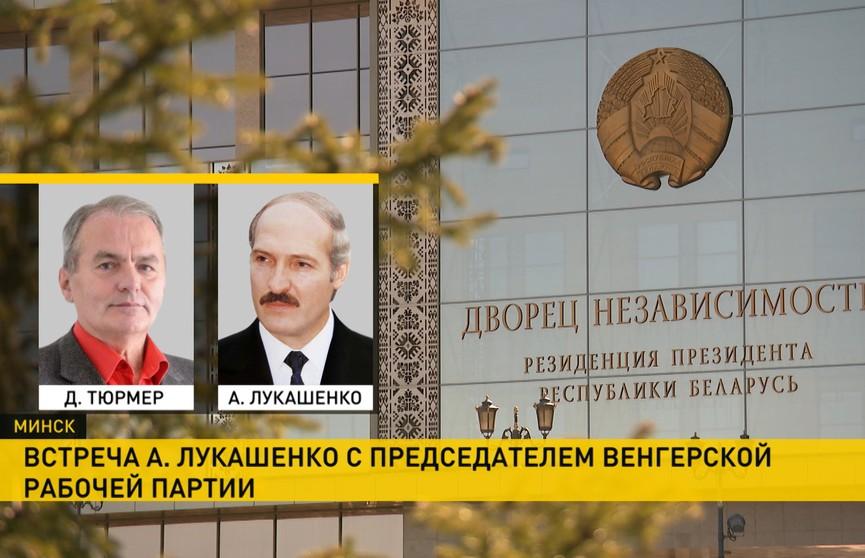 Президент Беларуси встретился с лидером Венгерской рабочей партии