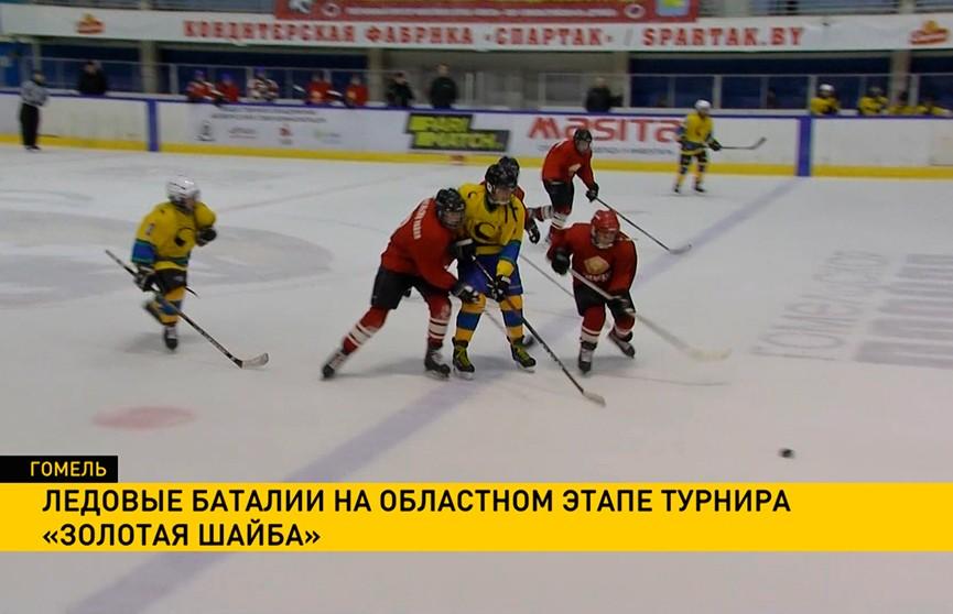 Региональный этап хоккейного турнира «Золотая шайба» проходит в Гомеле