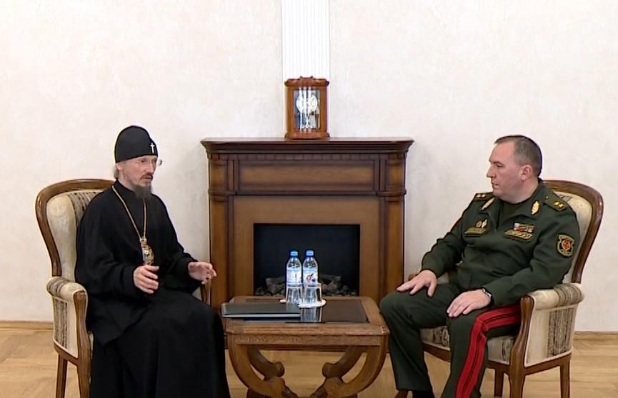 Глава Белорусской православной церкви и министр обороны обсудили важность духовных основ для службы в армии