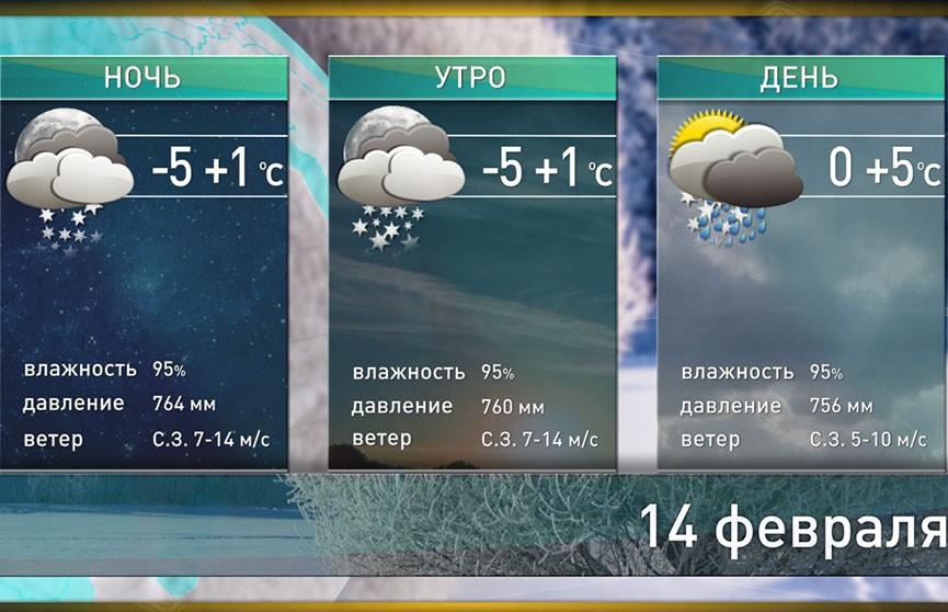 Прогноз погоды на 14 февраля