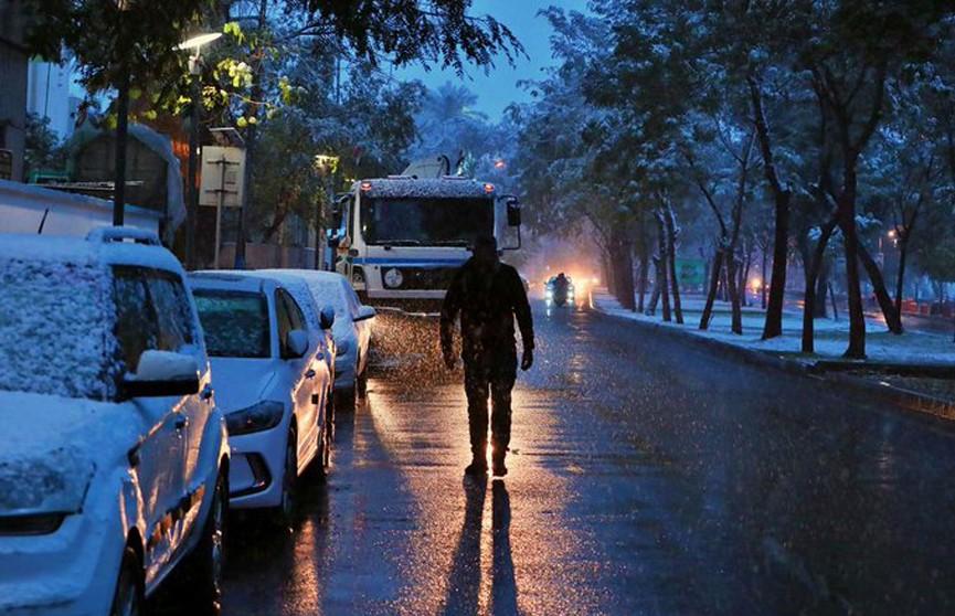 Снег выпал в Багдаде впервые за 12 лет