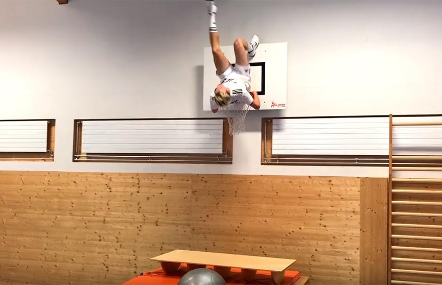 Фристайлист с 53-й попытки исполнил серию прыжков по принципу домино