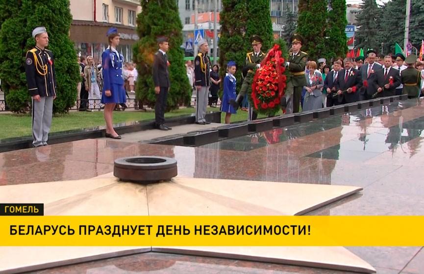 Беларусь празднует День Независимости: митинги и возложения цветов в регионах