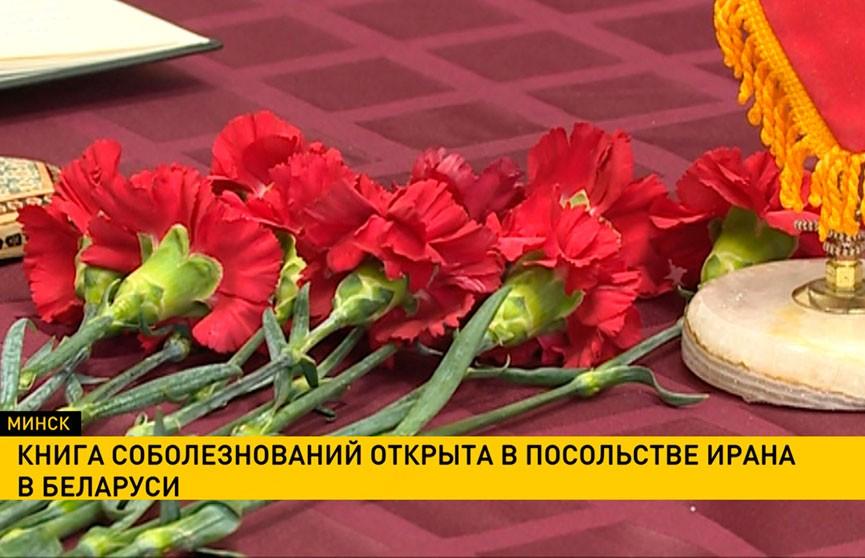 Книга соболезнований открыта в посольстве Ирана в Беларуси после крушения украинского самолета в Тегеране