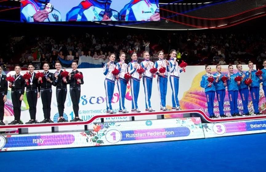 Белорусские юные гимнастки привезли домой три награды ЧМ в Москве